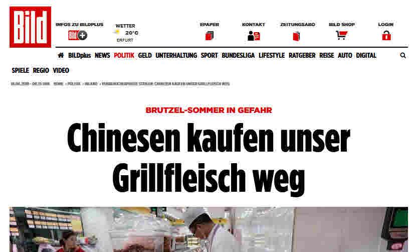 BILD-Zeitung zum Anstieg der Schweinepreise