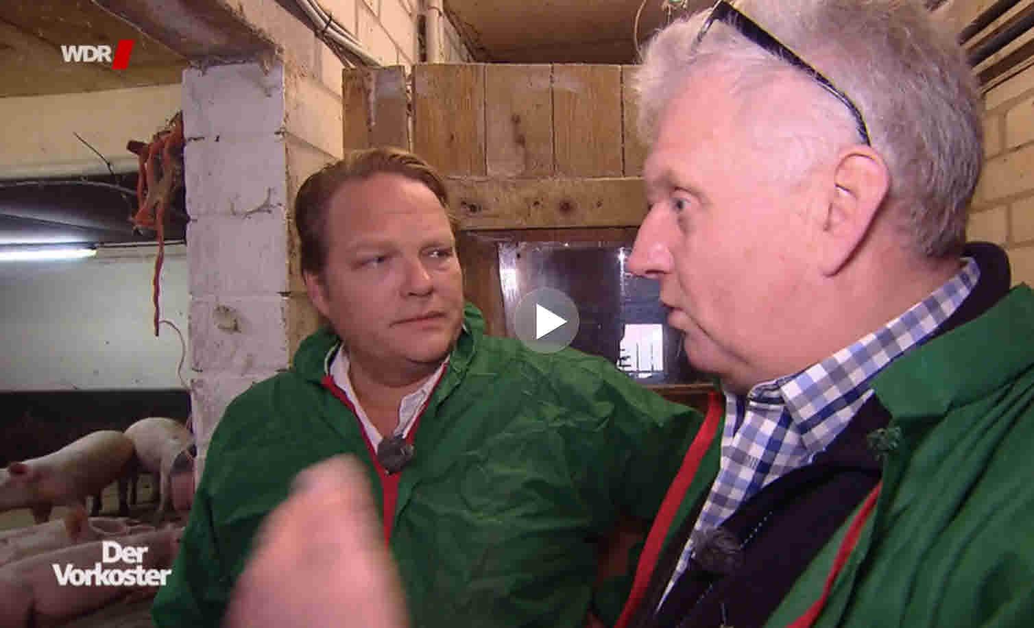 WDR – Der Vorkoster zum Thema Schweinefleisch mit Björn Freitag